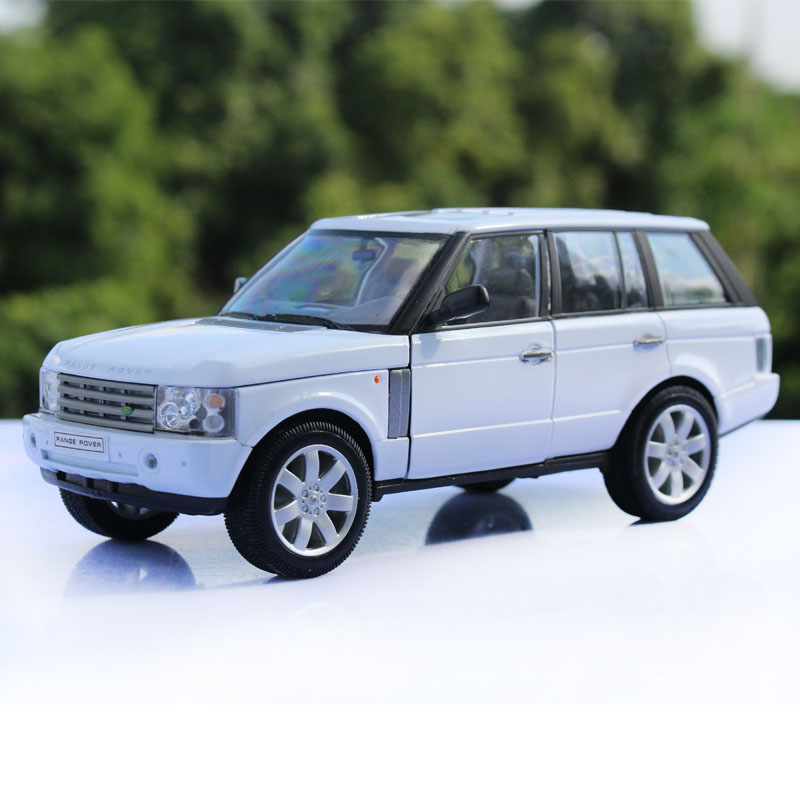 Willie/welly1: 24 land rover range rover alloy car toys for children favorite cars static model white models