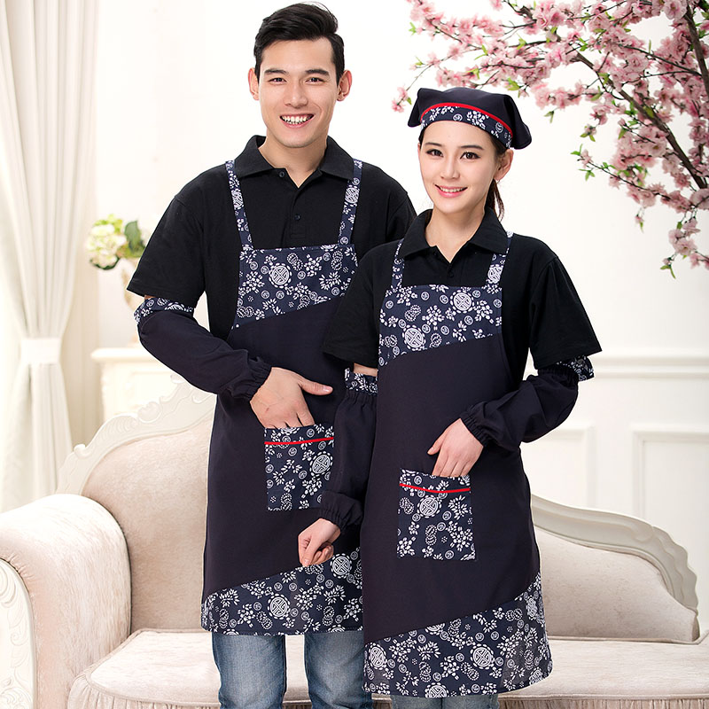 Wine work uniforms farmhouse hotel work apron chef kitchen apron bust halter apron suit scarf