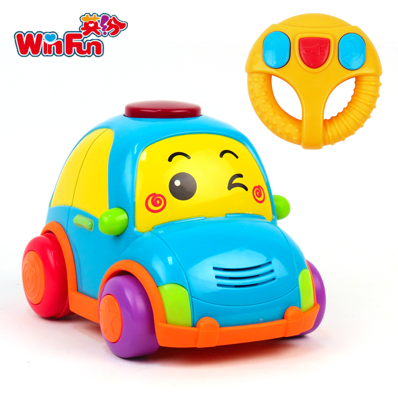 Winfun/english fun baby toys remote control car children two to five years old early childhood music baby toys children's educational selling 1155