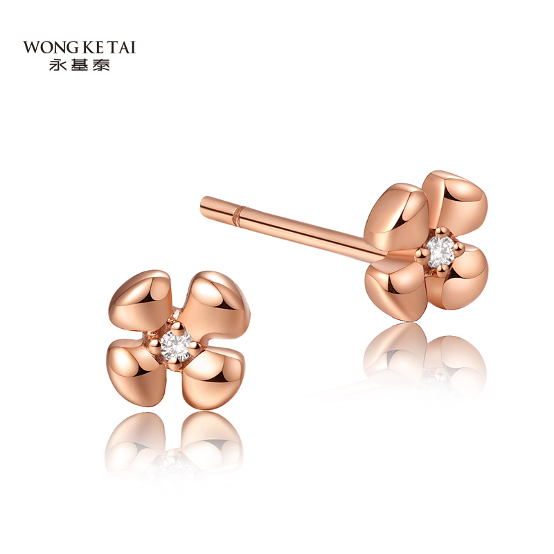 765a80a62ed370 Get Quotations · Wing kitai k rose gold diamond earrings earrings color  gold earrings genuine