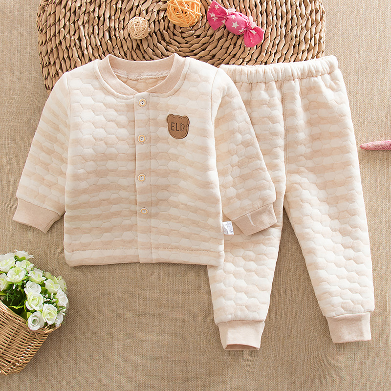 Winter baby cotton thermal underwear sets fall and winter baby cotton thermal underwear sets children warm suit