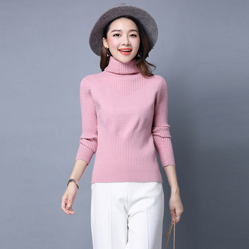 Get Quotations · Winter new pink turtleneck sweater female hedging sweater korean winter sweater inside the ride bottoming shirt
