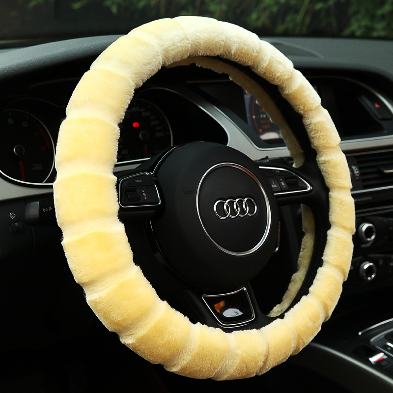Winter plush car toyota rav4 applicable 11/12/13/14/15/16 the new steering wheel cover to cover