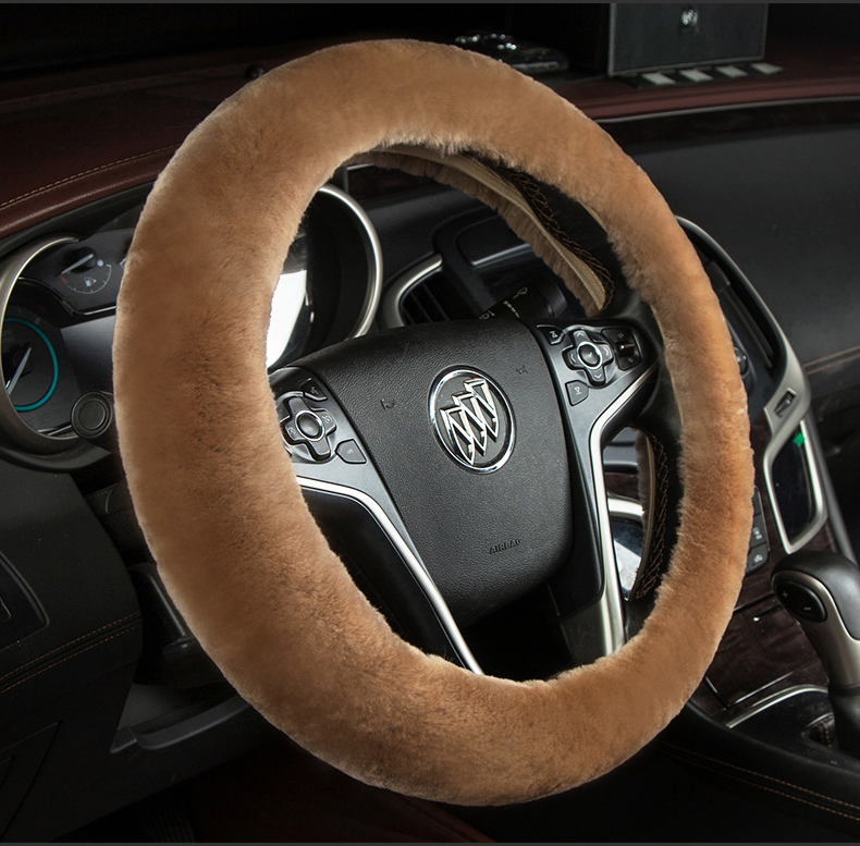 Winter pure wool steering wheel cover hideo new buick excelle monarch weiang cora lacrosse weilang plush grips