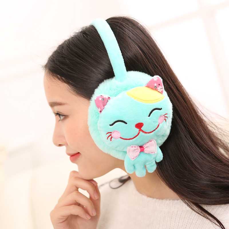 Winter warm earmuffs earmuffs lovely female models cute cat ms. ear cover their ears warm plush ear ear ear package cover sets