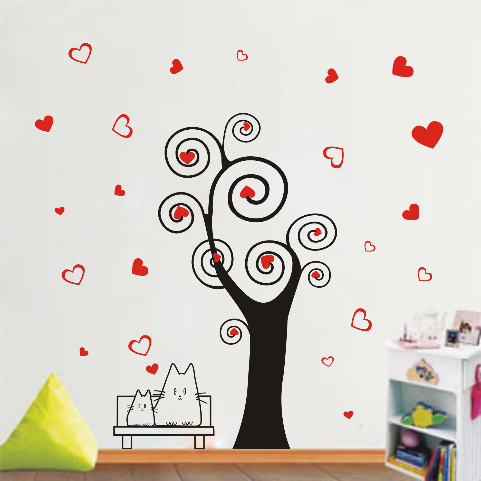 Wishing tree special removable wall stickers romantic bedroom living room tv wall stickers creative home decorations