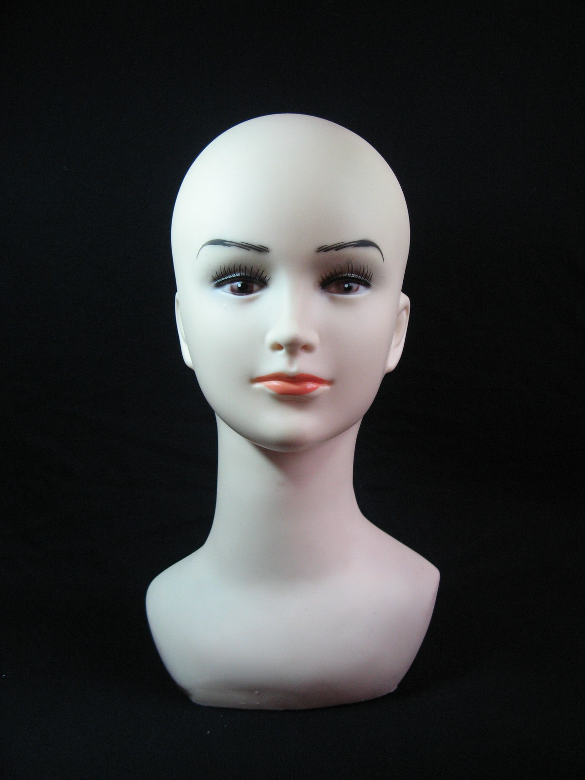 With a shoulder dummy head mannequin head display mannequin head wig hat glasses necklace jewelry display headform bald
