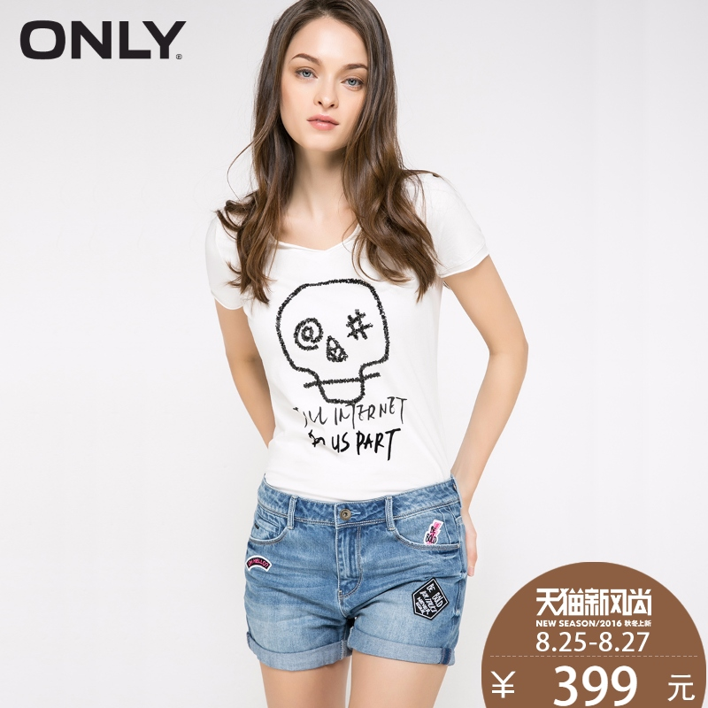 With coupons over 500 minus 50 yuan only summer new cotton embroidered denim shorts female | 1 16343506