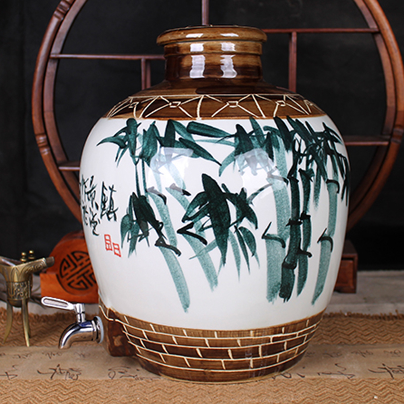 With the leading sparkling wine bottle jar jars jingdezhen ceramic hand painted 20 30 catty catty wine jar container