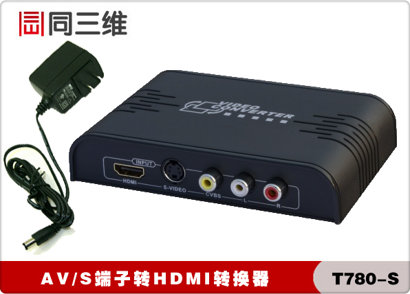 With three-dimensional T780-S av/s terminal turn cvbs to hdmi converter hdmi audio and video converter free shipping