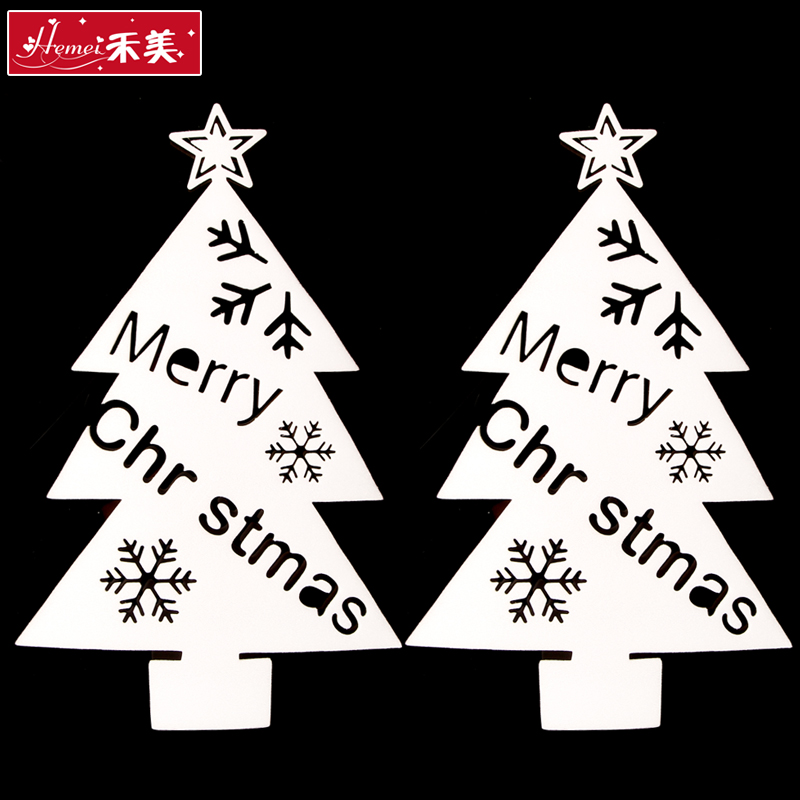 Wo us christmas decorations foam glass window stickers affixed stickers christmas tree christmas tree christmas supplies