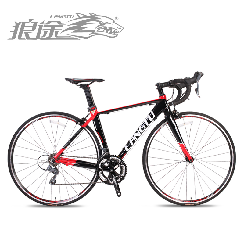 Wolf passers breaking wind seat tube 700c road bike 16 speed aluminum frame roadster sports car road KCR820