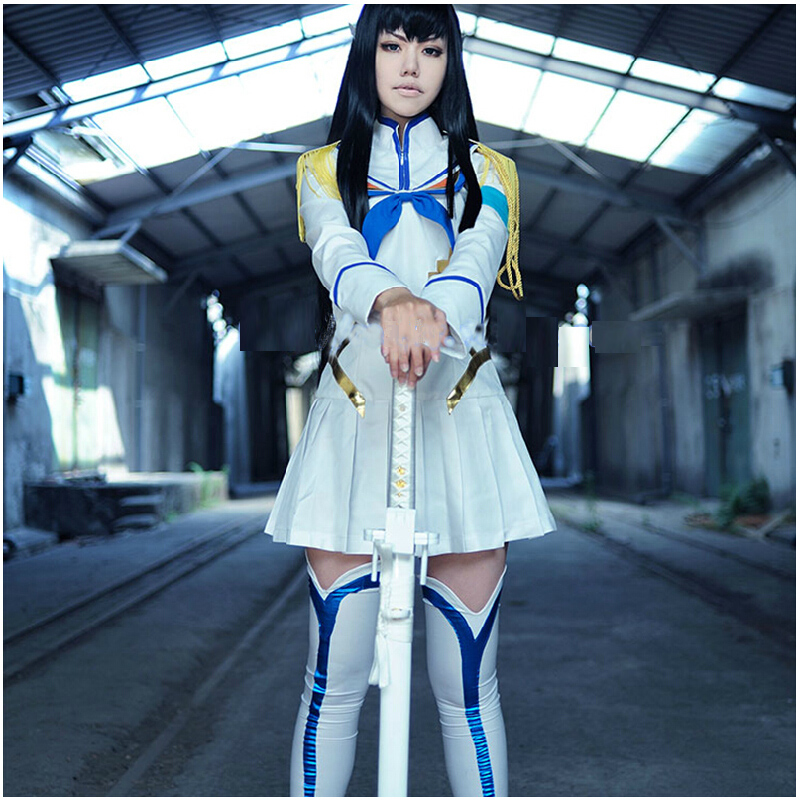 Get Quotations · Women anime cosplay man hit double chop cut dress girl  ghost dragon hospital gao pole uniforms ca82af9f6