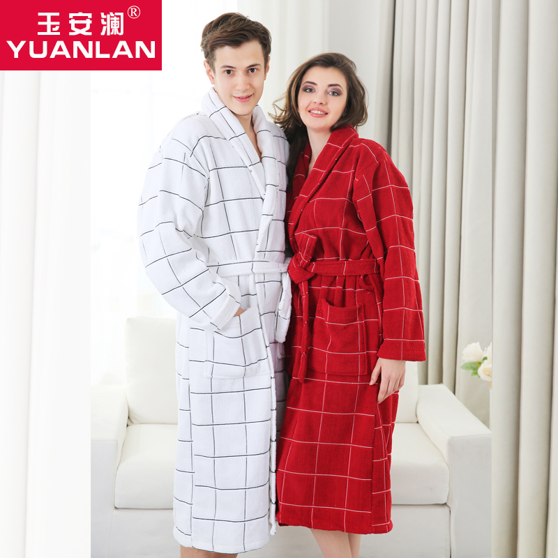 Get Quotations · Women fall and winter long section of thick cotton  toweling bathrobes for men and women adult d2c91ab0c