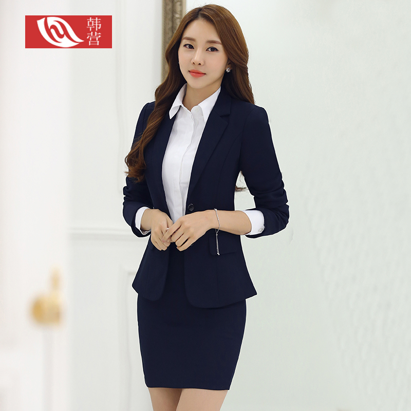 Women wear suits autumn long sleeve ladies suit jacket business suits ol interview dress overalls women