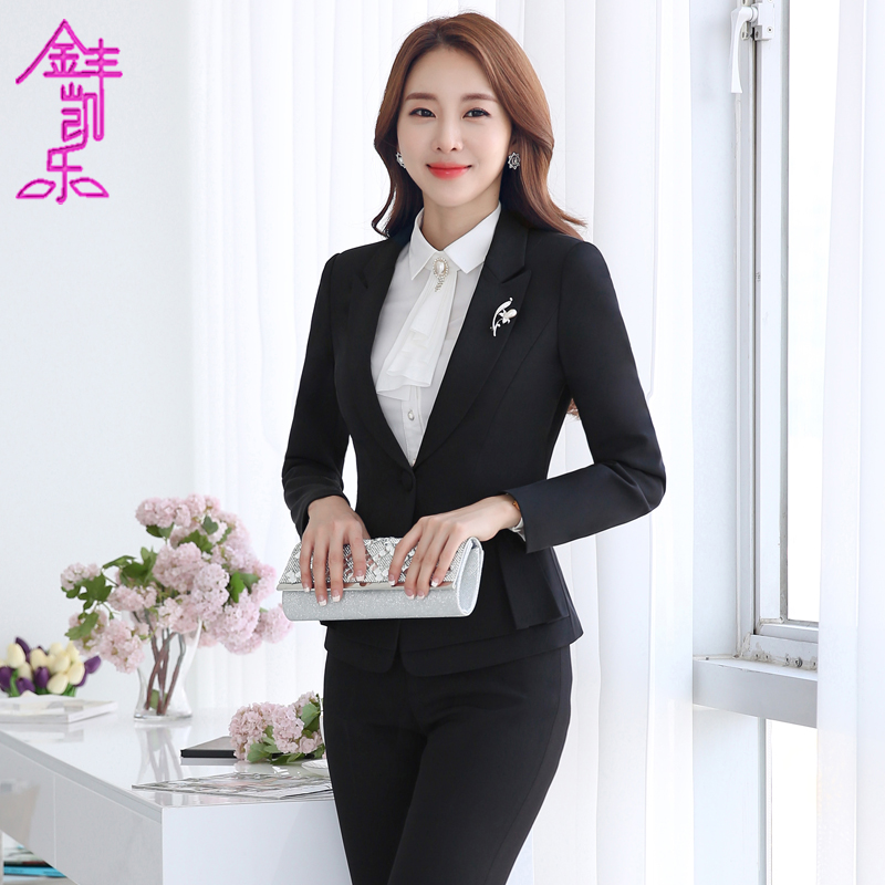 Women's autumn and winter wear chaps sleeved hundred ride ms. slim suits business suit skirt overalls interview