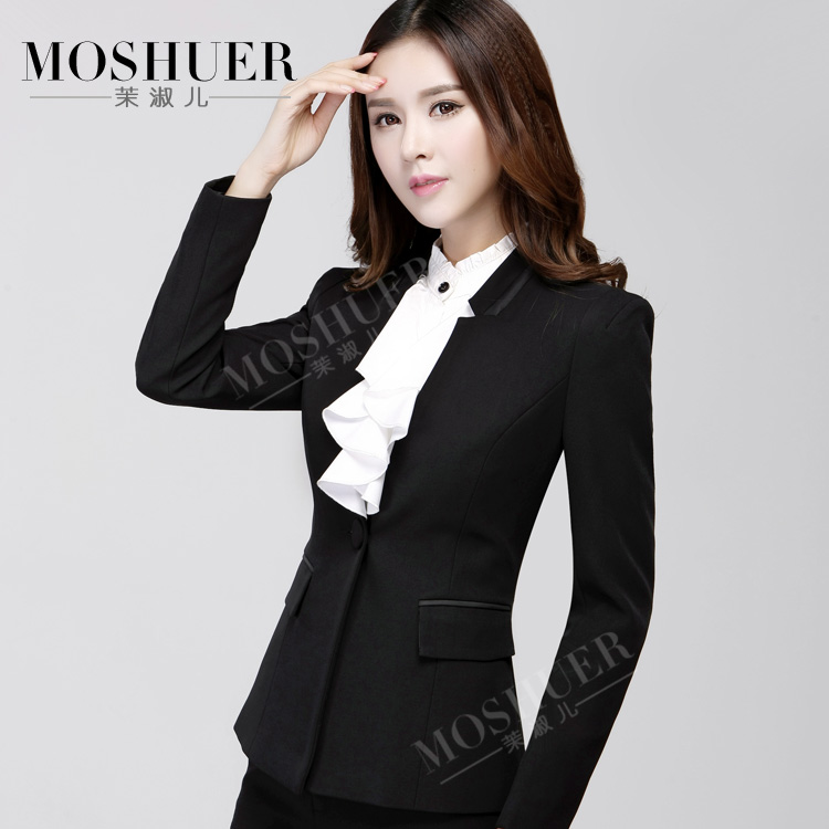 0d140f9a962 Get Quotations · Women s autumn and winter wear skirt suits ms. slim long  sleeve western business suits fitted