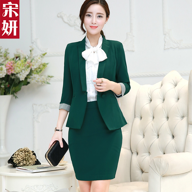 Women's fashion wear skirt suits temperament ol skirt suits overalls interview suit business suits long sleeve spring and autumn