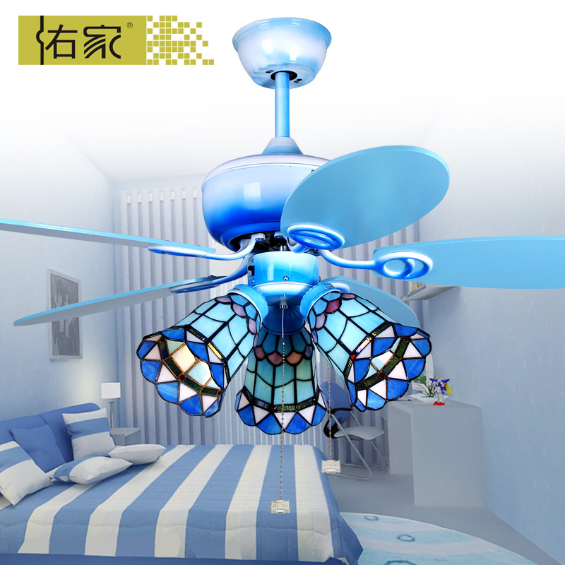 China ceiling fan blue china ceiling fan blue shopping guide at get quotations woo home childrens room ceiling fan light konoha blue color 42 inch mini fan light minimalist aloadofball Images