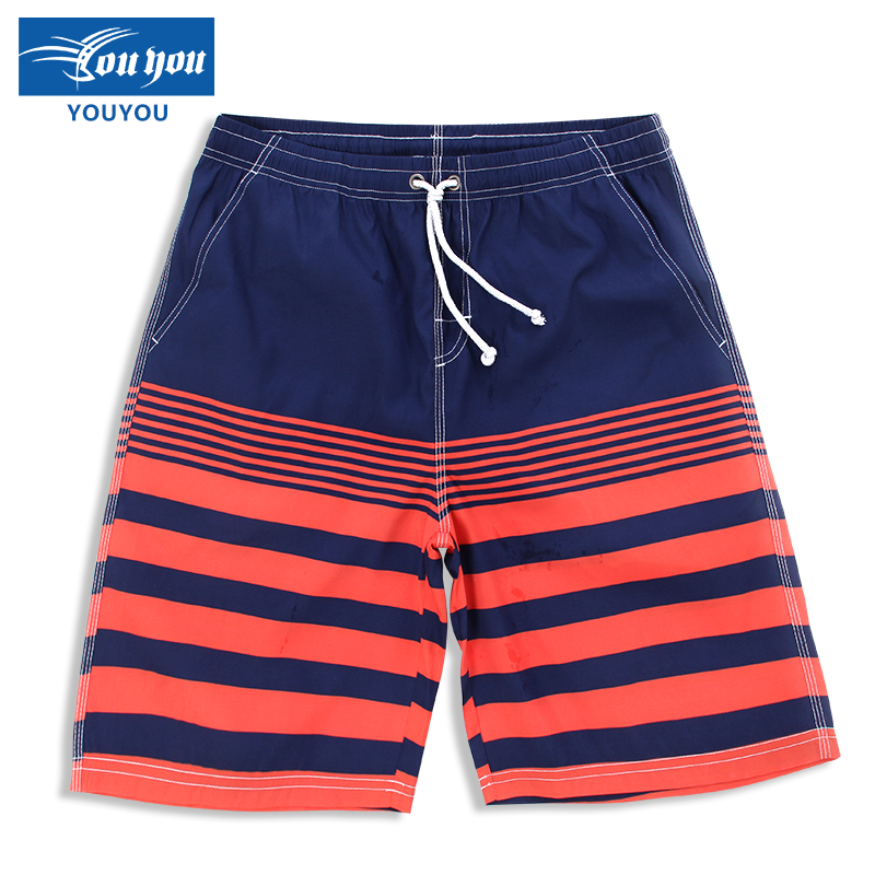 Woo swim summer lovers beach pants loose men's casual fashion european and american style hot springs swimming beach pants shorts pants