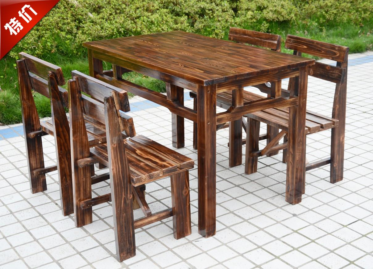 China coffee shop tables china coffee shop tables shopping guide get quotations wood charcoal farmhouse rectangular tables and chairs for outdoor dining tables and chairs combination courtyard geotapseo Gallery