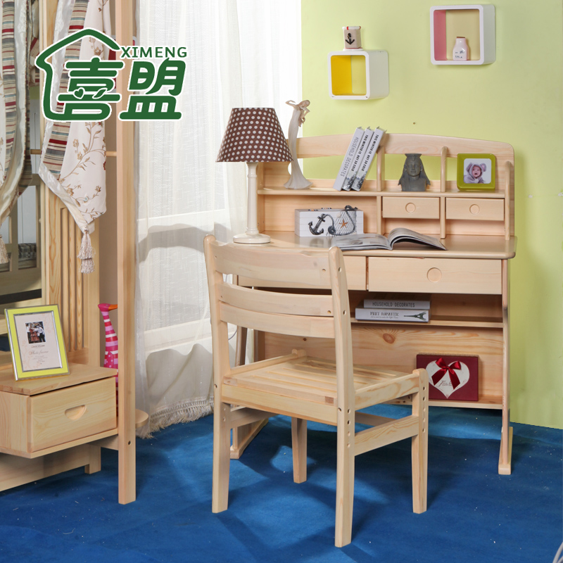 Wood furniture wood desk minimalist home desktop computer desk desk desk children desk study deals