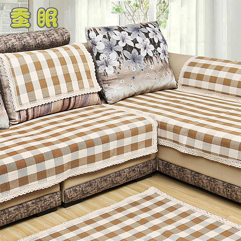 Wood sofa cushion sofa cushion european old coarse plaid sofa slipcover sofa cover towel laocu cloth sofa cushion slip leather sofa cushion