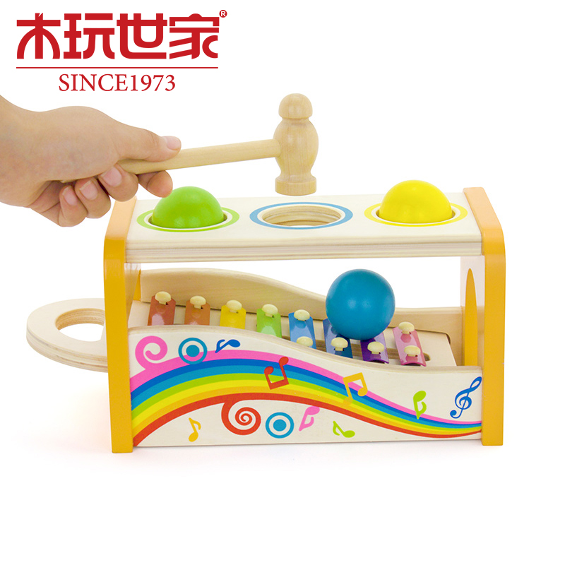Wooden play family happy family music knock knock knock taiwan children's educational music wooden toys