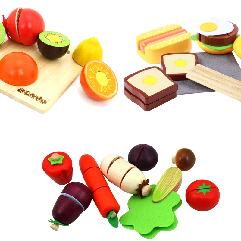 Wooden play family wooden magnetic honestly honestly happy to see fruits and vegetables honestly honestly happy years old children's educational toys