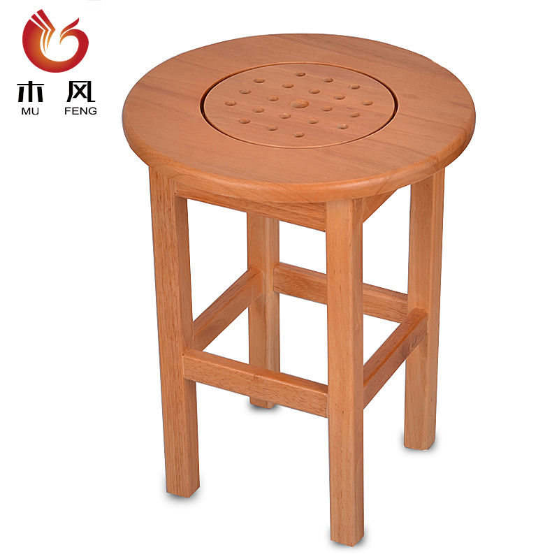 Wooden wind gynecological andrology sit special fumigation barrel steaming head fumigation oak solid wood stool stool stool small stool stool