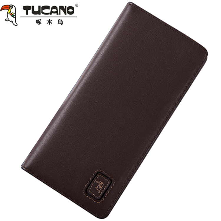 Woodpecker counter genuine leather men long wallet wallet men wallet cowhide leather fashion casual business