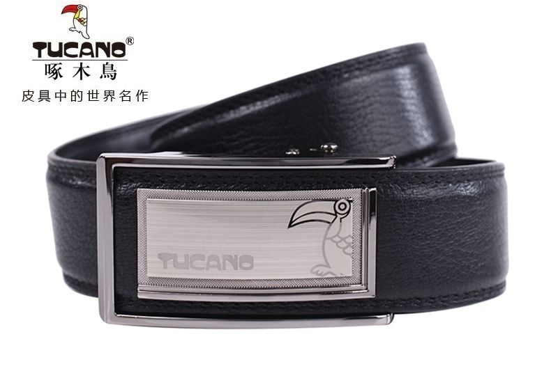 Woodpecker male leather belt leather belt male automatic belt buckle leather belt leather belt male automatic buckle waist belt