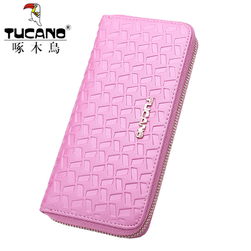 Woodpecker ms. wallet women handbag long section of the leather embossed leather wallet 2016 new wave of korean women
