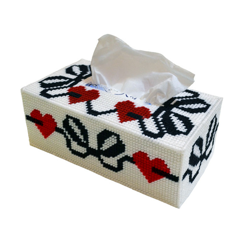 Wool embroidered three-dimensional three-dimensional embroidery stitch tissue box tissue box gift soulmate dedicated bold wool suitable for novice