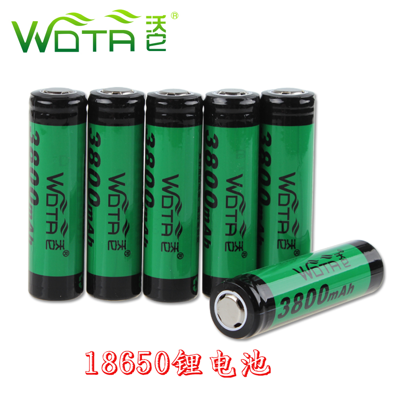Wota wal it 18650 lithium battery 3800 mA 3.7 v 18650 rechargeable batteries