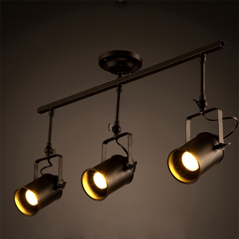 Wyatt combined creative personality retro industrial clothing store cafe bar station ceiling led track light pole spotlight