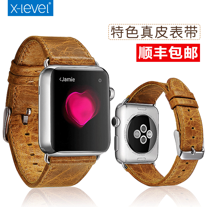 X-level apple apple handmade leather strap watch iwatch watch business men with 38mm/42mm