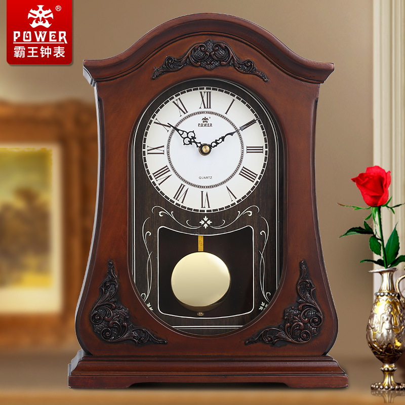Get Ations Xanthoxylum Watches Wood Continental Parlor Clock Table Pendulum Retro Tuba Mute Wall