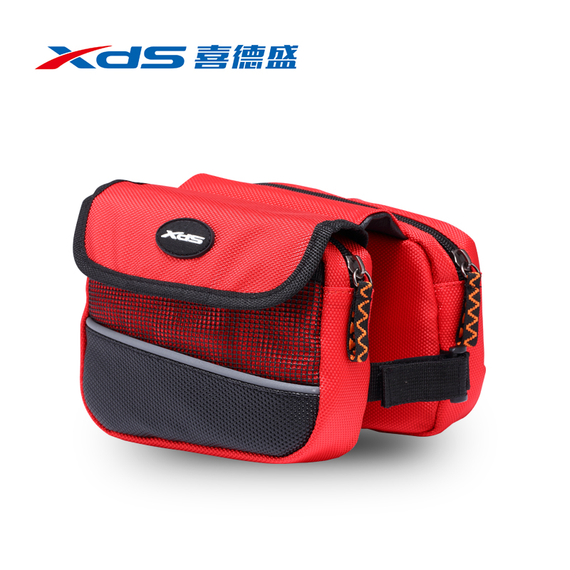 Xds double saddle bag mtb bicycle tube on the bike saddle bag wraped package before riding chartered twin pack