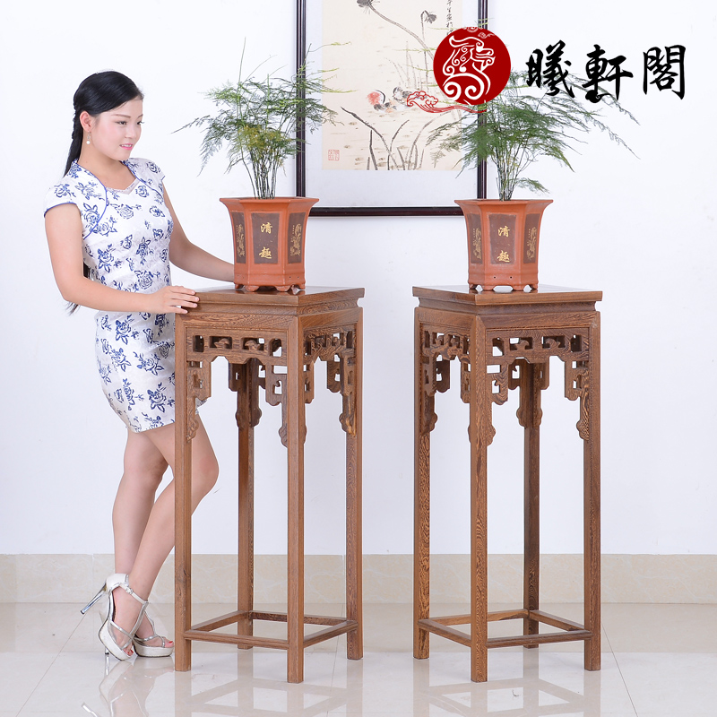 Xi archaized hin court mahogany furniture wenge wood flower flower flower racks floor to spend a few flower ancient code