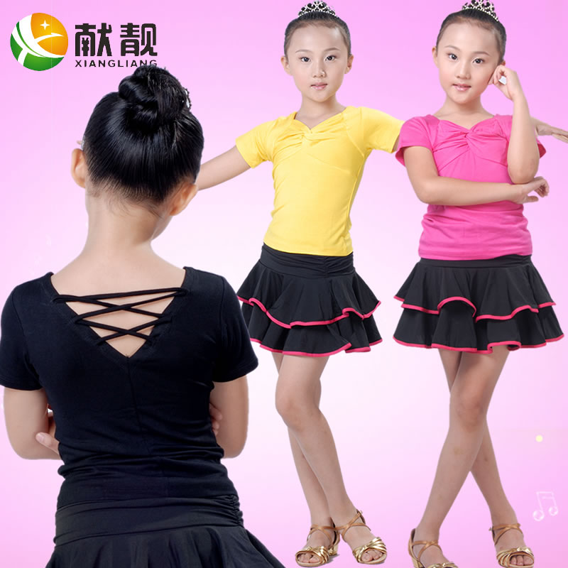 Xian liang child latin dance clothes and children latin dance clothing new children's pull ding dress costumes for children