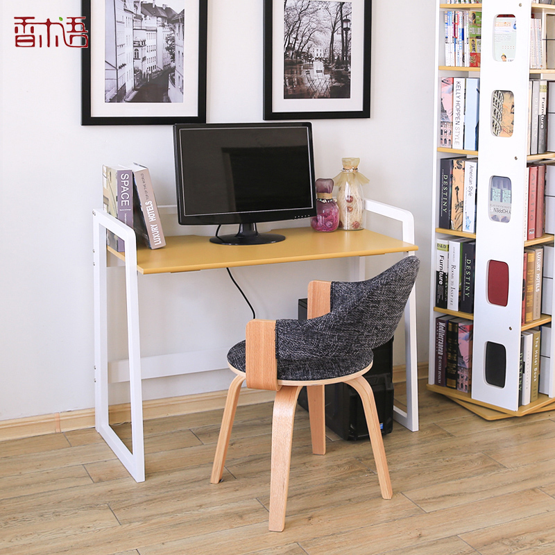 Xiangmu language folding home all solid wood desk pine computer desk computer desk simple desk study tables modern minimalist