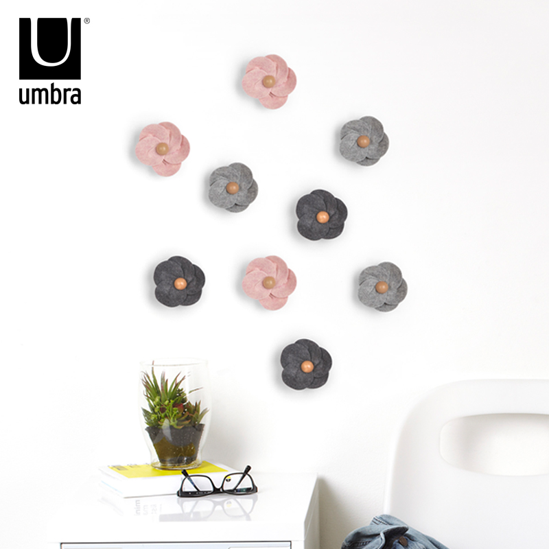 Xiaoman youpin umbra creative multicolor flowers 3d stereoscopic bedroom wall stickers home tv wall decoration supplies