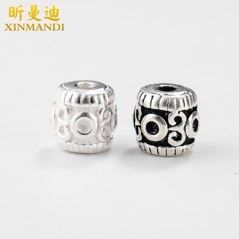 Xin mandy-carved thai silver s925 silver spacer beads spacer beads prayer beads rosary beads bodhi loose beads diy accessories bracelets