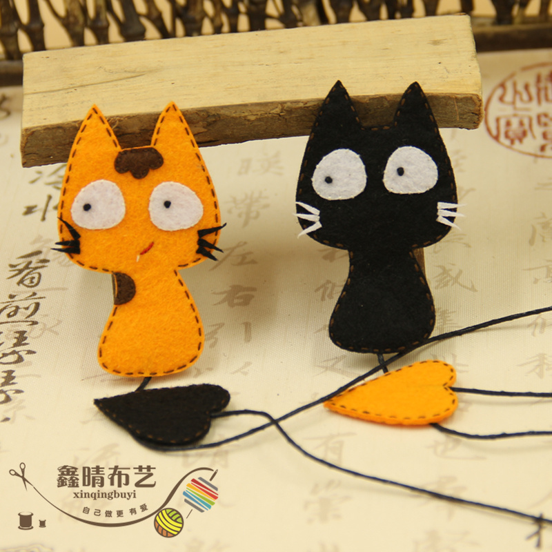 Xin qing original avoid cutting diy handmade cloth material package does not weaving bookmarker cat suit