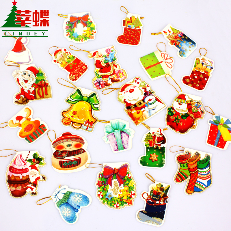 Xin skipperling fine wishing cards small cards thank you card greeting cards santa claus christmas snowman christmas tree ornaments