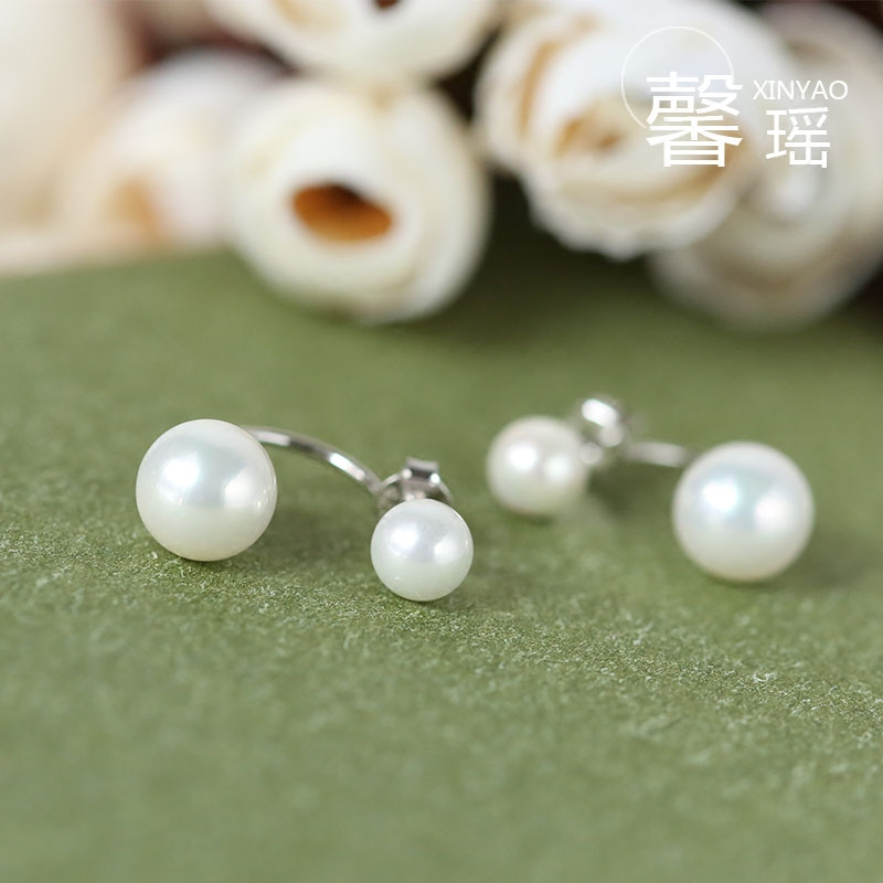 Xin yao handmade s925 silver hook earrings korean fashion female synthetic pearl earrings hypoallergenic earrings to send gifts