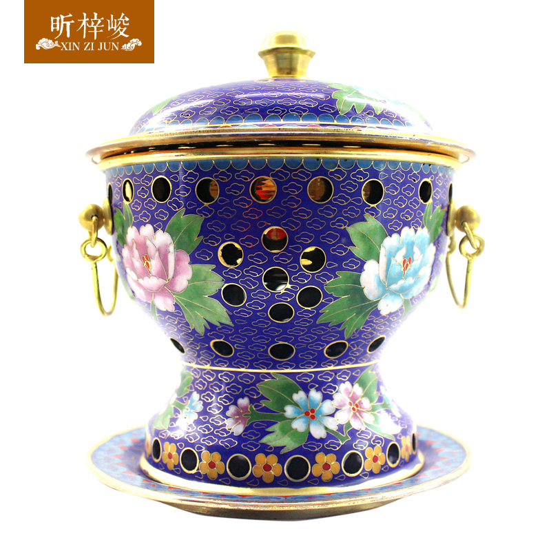 Xin zi finishing cloisonn gourd copper pot of pure copper copper pot alcohol stove special pot of old beijing shabu