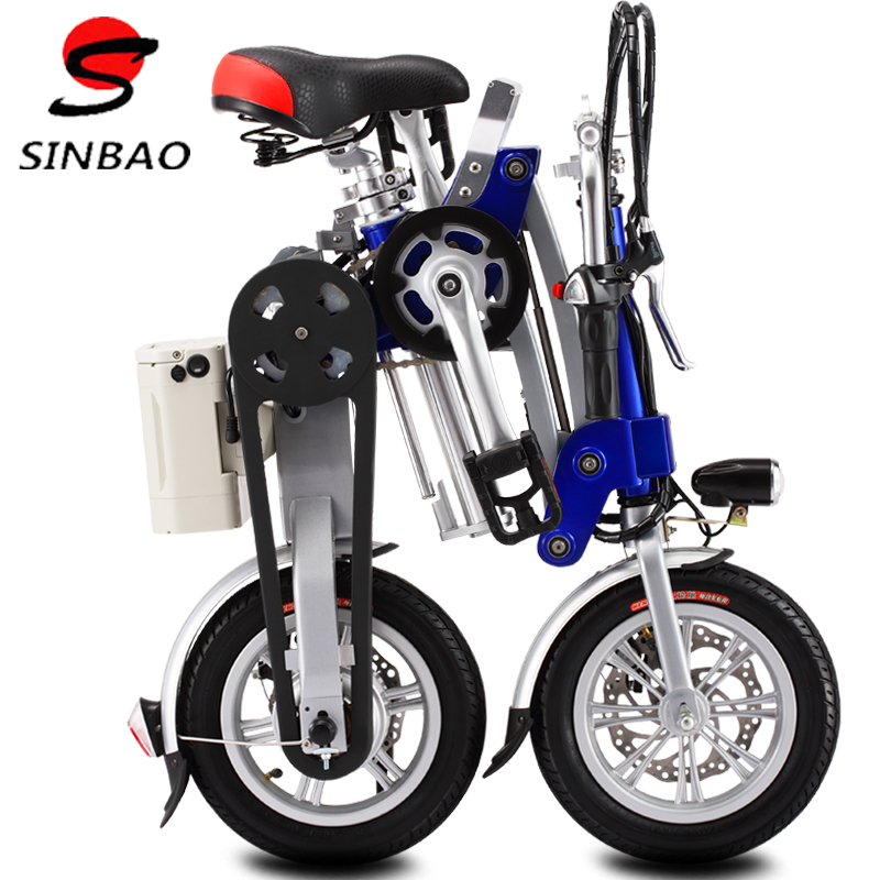 Xinbao lightweight mini folding electric bike lithium battery electric vehicles electric single car driving on behalf of adult electric cars