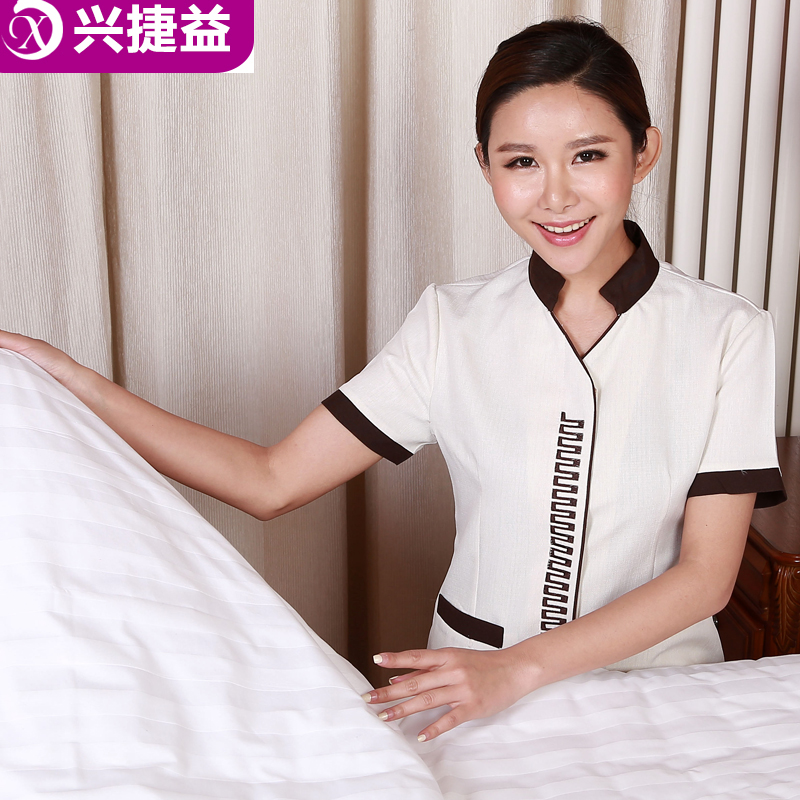 Xing jie yi hotel uniforms summer female hotel room cleaning clothing uniforms pa property